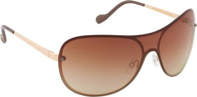 Jessica Simpson Sunwear Shield Sunglasses Gold Nude - Jessica Simpson Sunwear Sunglasses