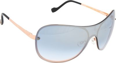 Jessica Simpson Sunwear Shield Sunglasses Rose Gold Black - Jessica Simpson Sunwear Sunglasses