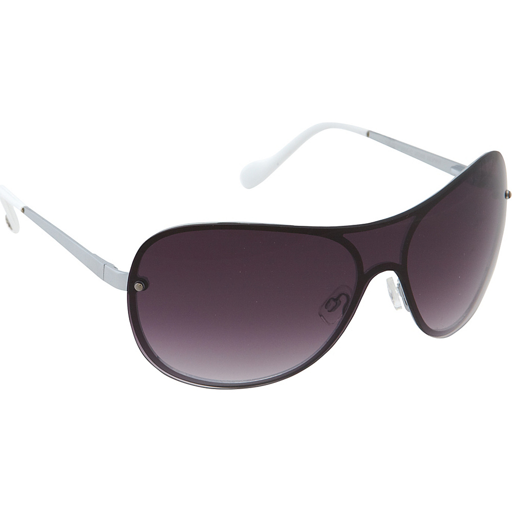 Jessica Simpson Sunwear Shield Sunglasses Silver White - Jessica Simpson Sunwear Sunglasses