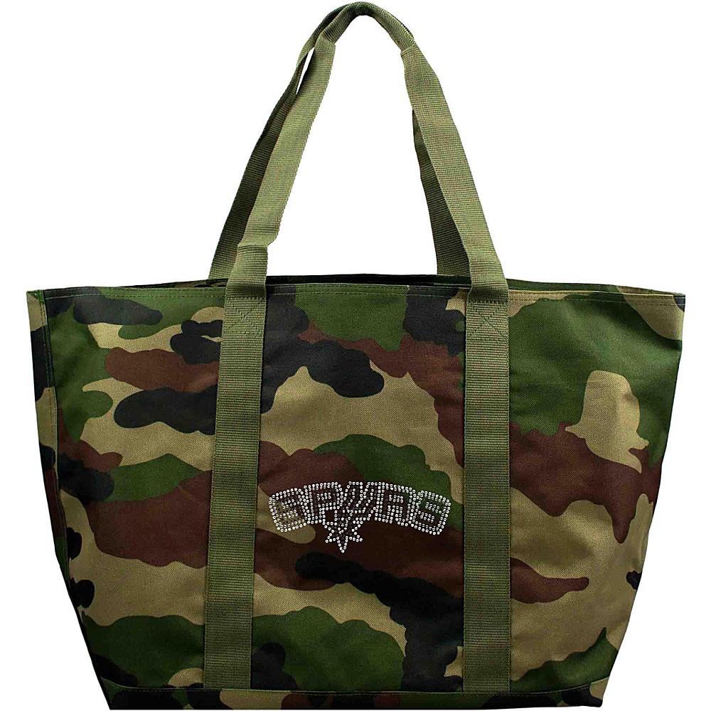Littlearth Camo Tote - NBA Teams San Antonio Spurs - Littlearth Fabric Handbags - Handbags, Fabric Handbags