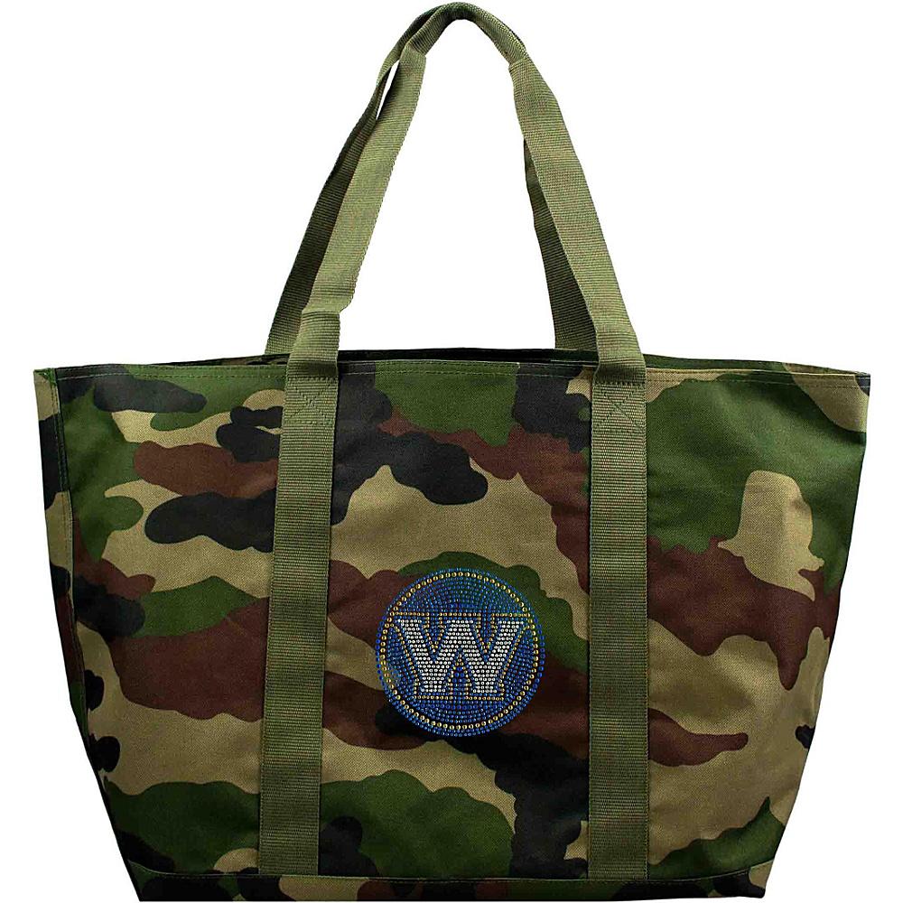 Littlearth Camo Tote - NBA Teams Golden State Warriors - Littlearth Fabric Handbags - Handbags, Fabric Handbags