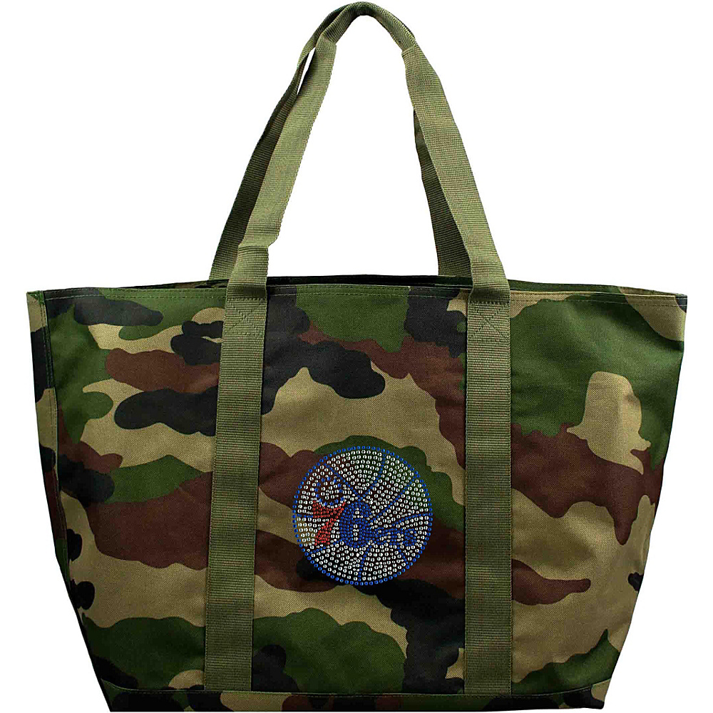 Littlearth Camo Tote - NBA Teams Philadelphia 76ers - Littlearth Fabric Handbags - Handbags, Fabric Handbags
