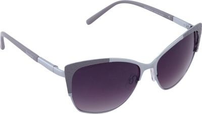 Laundry by Shelli Segal Sunglasses Laundry by Shelli Segal Sunglasses Textured Cat Eye Sunglasses Silver/Grey - Laundry by Shelli Segal Sunglasses Sunglasses