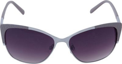 Laundry by Shelli Segal Sunglasses Textured Cat Eye Sunglasses Silver/Grey - Laundry by Shelli Segal Sunglasses Sunglasses