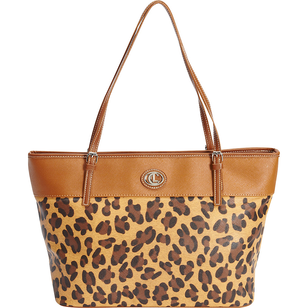 Aurielle Carryland Carryall Tote Leopard Tobacco Aurielle Carryland Manmade Handbags