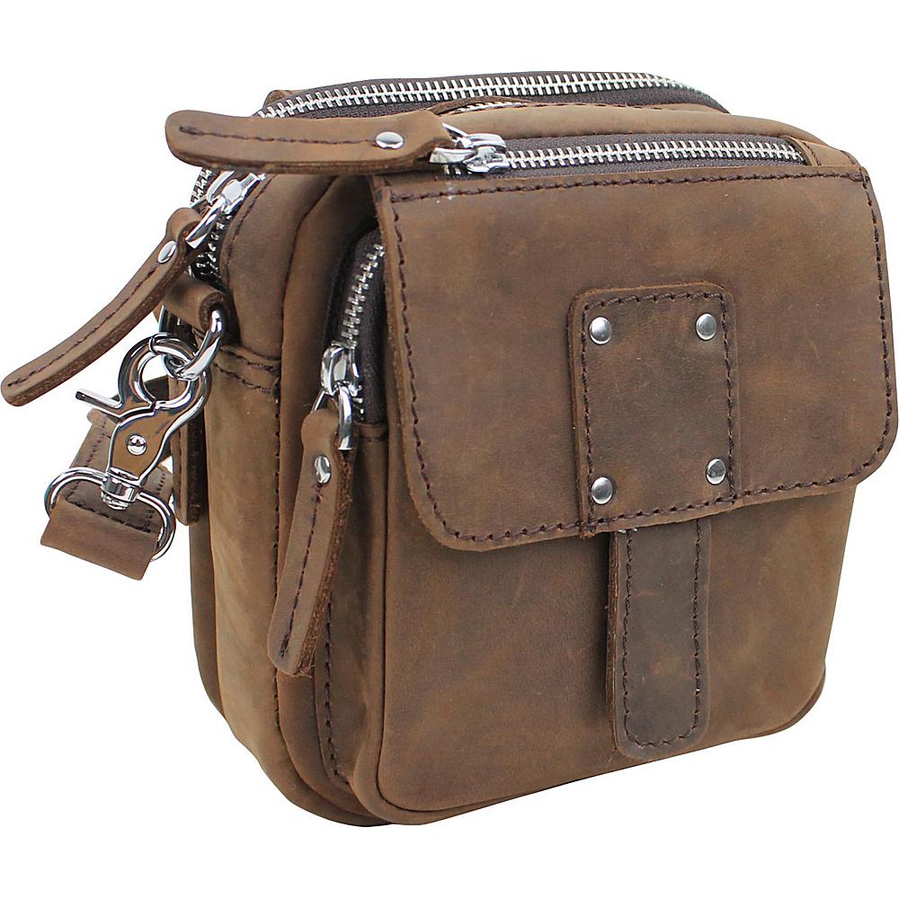 Vagabond Traveler Leather Crossbody Waist Bag Vintage Brown - Vagabond Traveler Leather Handbags - Handbags, Leather Handbags