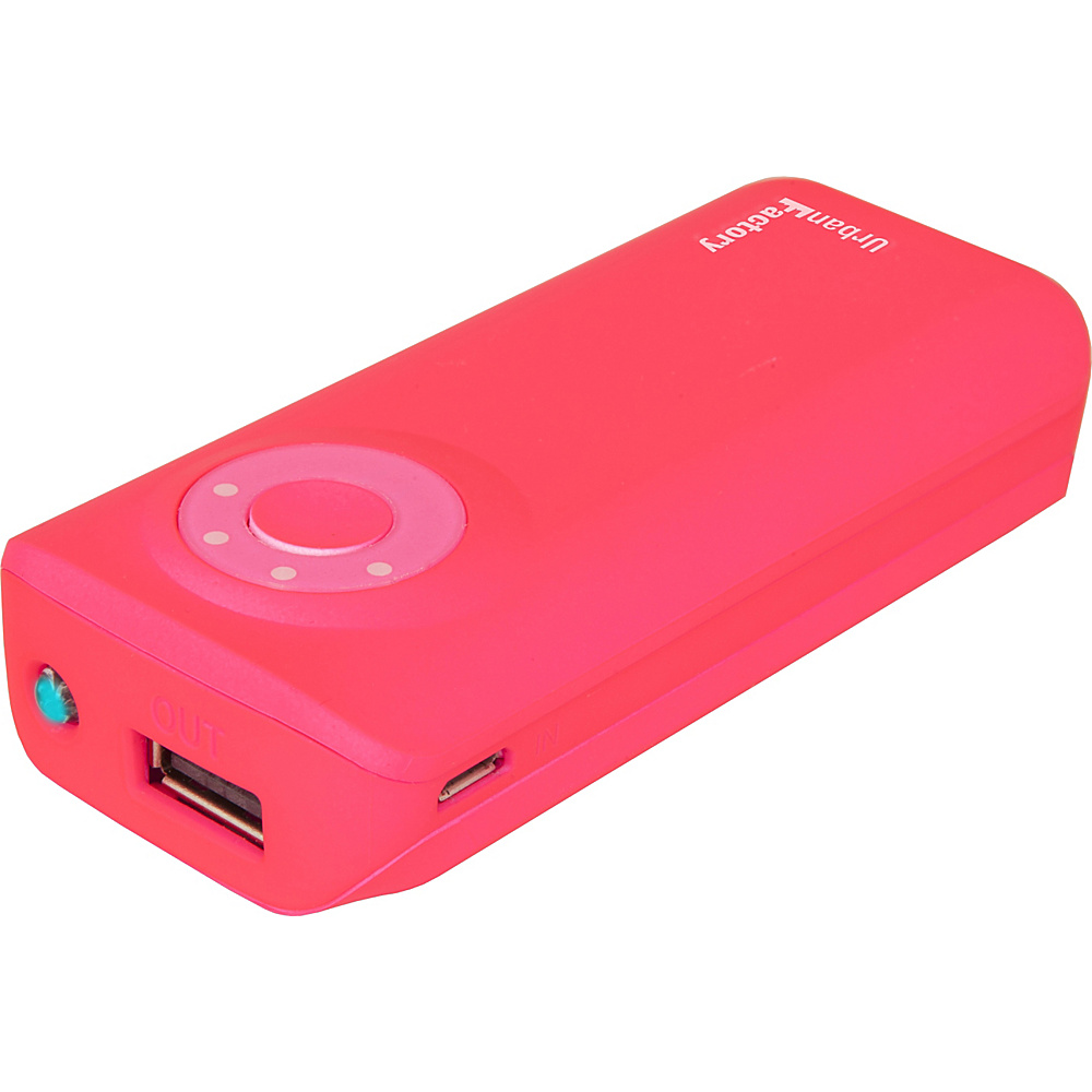 Urban Factory Emergency Battery 5600 mAh Fluo Pink Urban Factory Portable Batteries Chargers