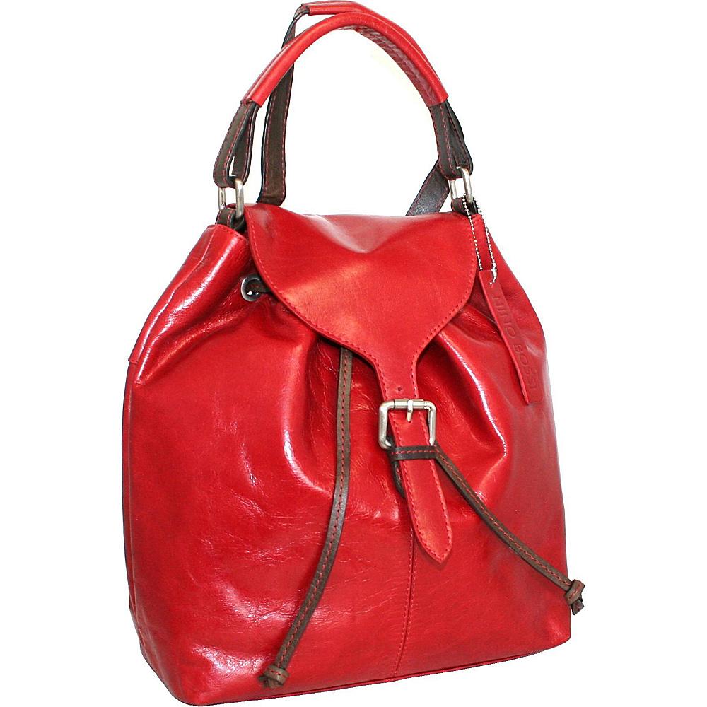 Nino Bossi Say Hey Backpack Red Nino Bossi Leather Handbags