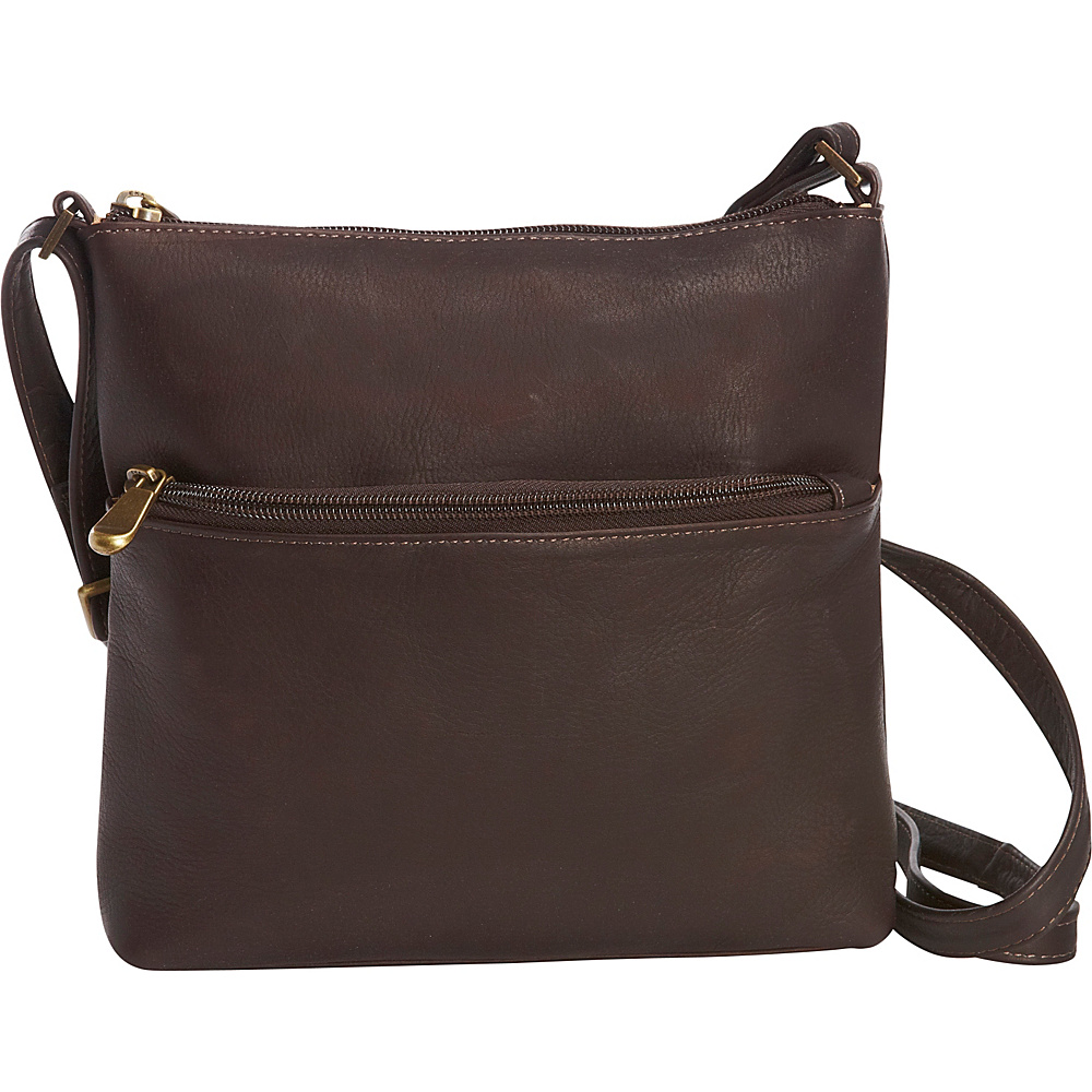 Le Donne Leather Ursula Crossbody Cafe - Le Donne Leather Leather Handbags - Handbags, Leather Handbags