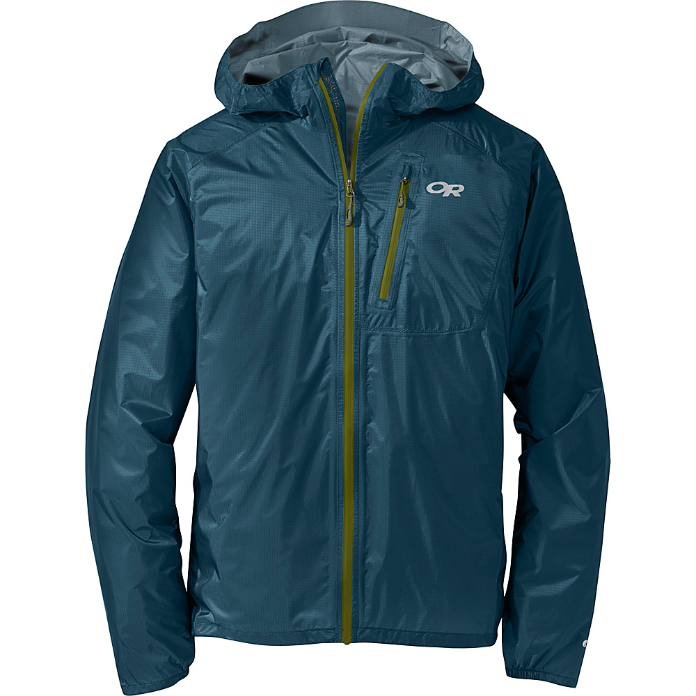 Outdoor Research Mens Helium II Jacket S - Peacock - Outdoor Research Mens Apparel - Apparel & Footwear, Men's Apparel