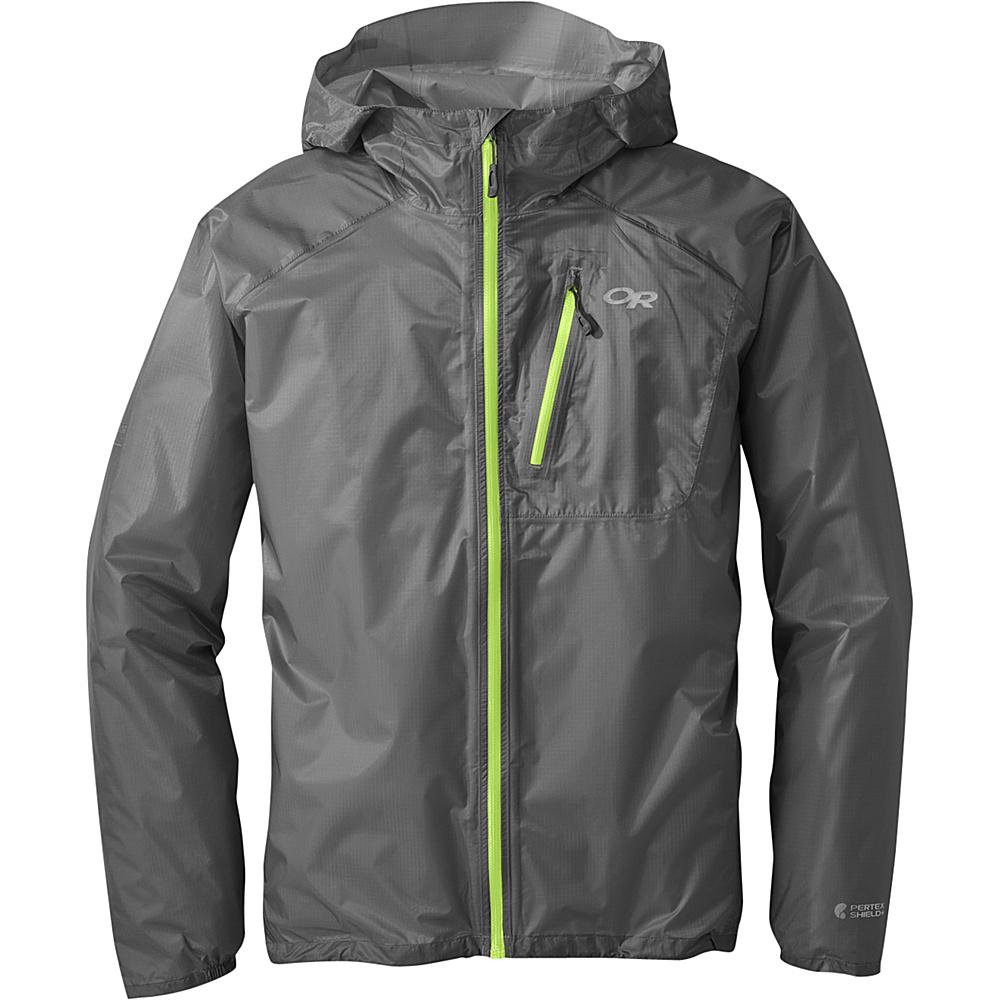 Outdoor Research Mens Helium II Jacket 2XL - Pewter - Outdoor Research Mens Apparel - Apparel & Footwear, Men's Apparel