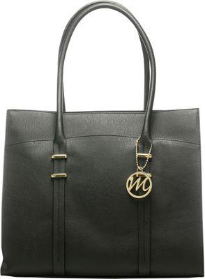 Emilie M Nora Tote Black - Emilie M Manmade Handbags
