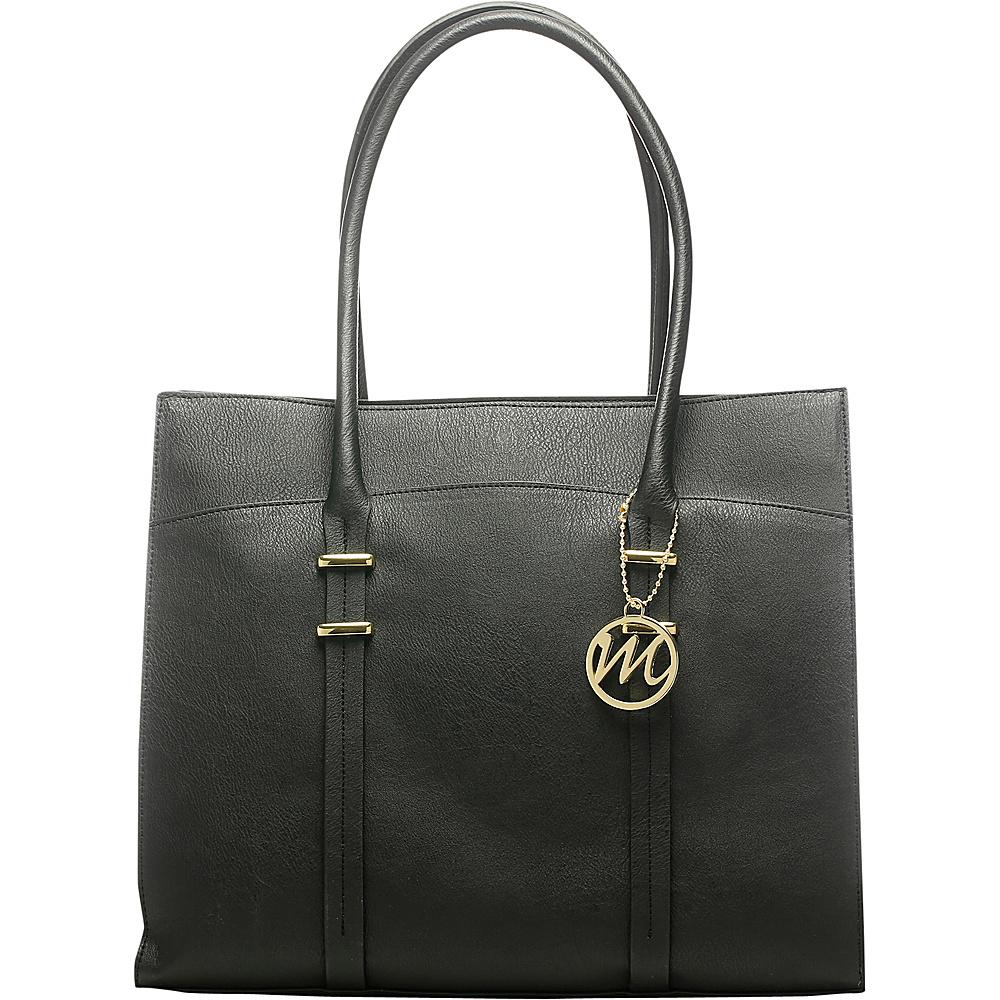 Emilie M Nora Tote Black Emilie M Manmade Handbags
