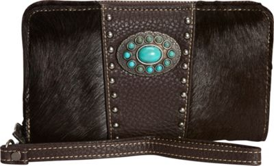Montana West Women's Calf Hair Wallet Coffee - Montana West Women's Wallets
