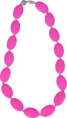 Itzy Ritzy Teething Happens Pebble Bead Necklace Hot Pink - Itzy Ritzy Diaper Bags & Accessories