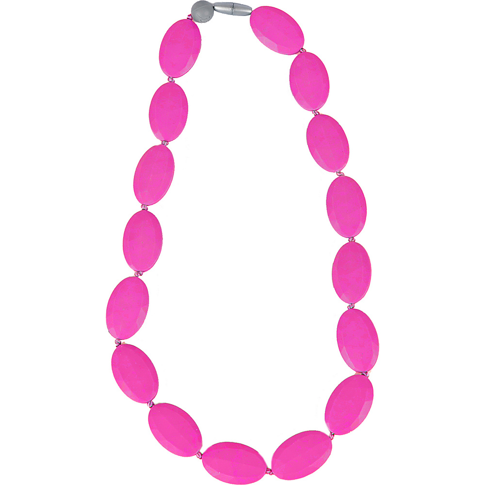 Itzy Ritzy Teething Happens Pebble Bead Necklace Hot Pink Itzy Ritzy Diaper Bags Accessories