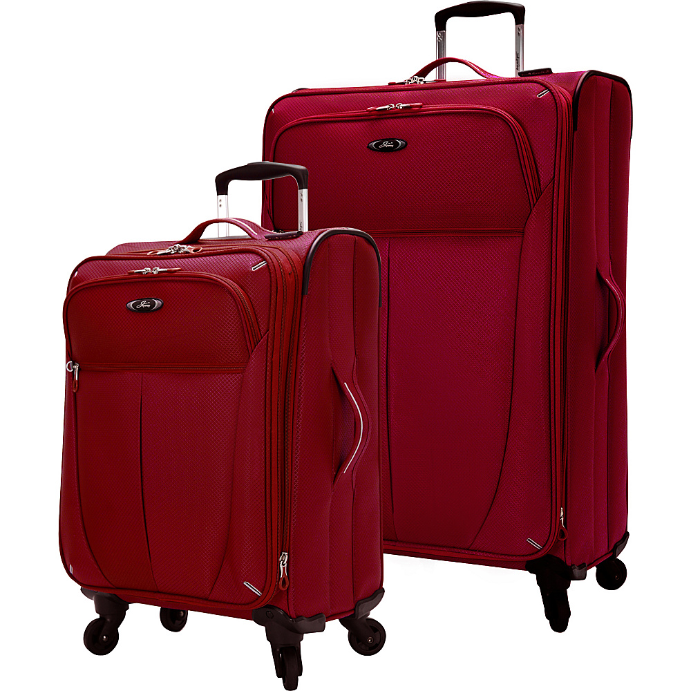 Skyway Mirage Superlight 2 Piece Luggage Set Formula 1 Red Skyway Luggage Sets