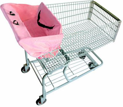 Image of 2 Red Hens Cart Cover Pink Lemonade - 2 Red Hens Diaper and Baby Accessories