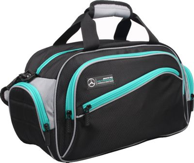 Mercedes AMG Petronas Sport Bag - Small Black/Grey - Mercedes AMG Petronas Gym Duffels