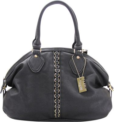 Chasse Wells Montagne Satchel Tote Black - Chasse Wells Manmade Handbags