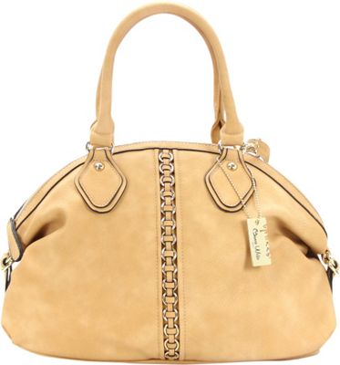Chasse Wells Montagne Satchel Tote Camel - Chasse Wells Manmade Handbags