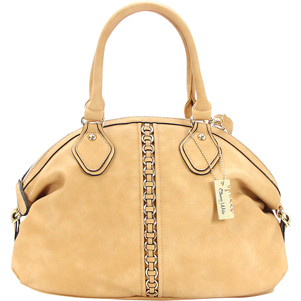 Chasse Wells Montagne Satchel Tote Camel Chasse Wells Manmade Handbags