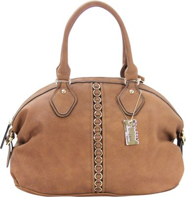 Chasse Wells Montagne Satchel Tote Brown - Chasse Wells Manmade Handbags