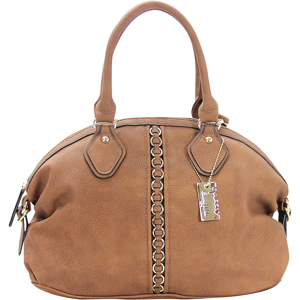 Chasse Wells Montagne Satchel Tote Brown Chasse Wells Manmade Handbags