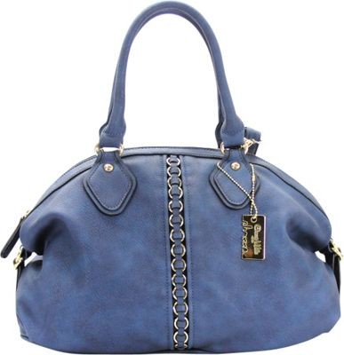 Chasse Wells Montagne Satchel Tote Navy - Chasse Wells Manmade Handbags