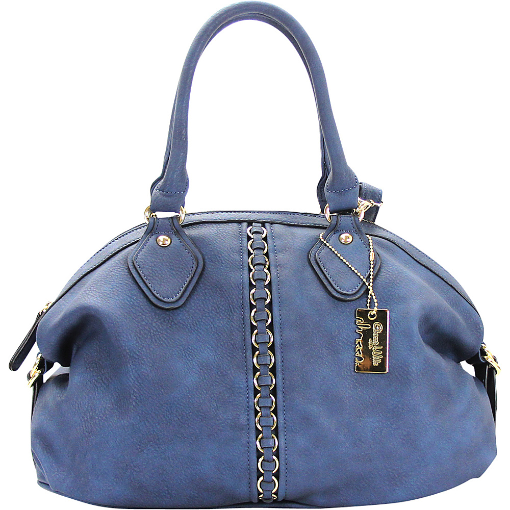 Chasse Wells Montagne Satchel Tote Navy Chasse Wells Manmade Handbags