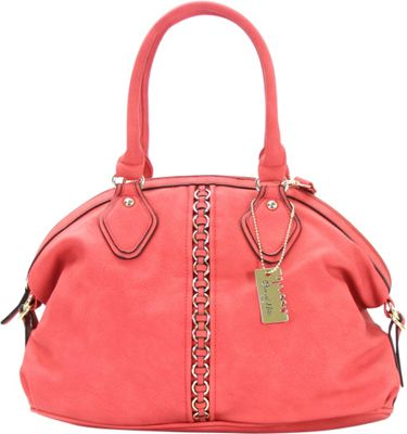 Chasse Wells Montagne Satchel Tote Red - Chasse Wells Manmade Handbags
