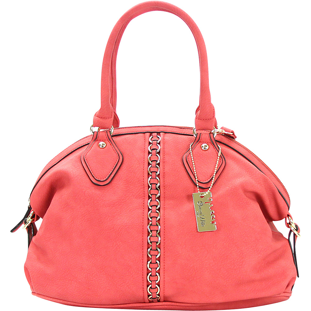 Chasse Wells Montagne Satchel Tote Red Chasse Wells Manmade Handbags