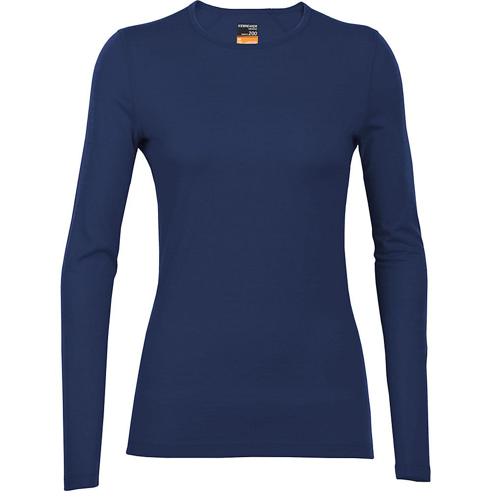 Icebreaker Women s Oasis LS Crew Shirt XL Black Icebreaker Women s Apparel