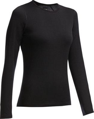 Icebreaker Women's Oasis LS Crew Shirt XS - Black - Icebreaker Men's Apparel