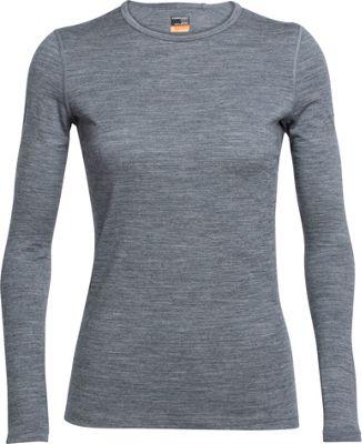 Icebreaker Women's Oasis LS Crew Shirt XS - Black - Icebreaker Women's Apparel