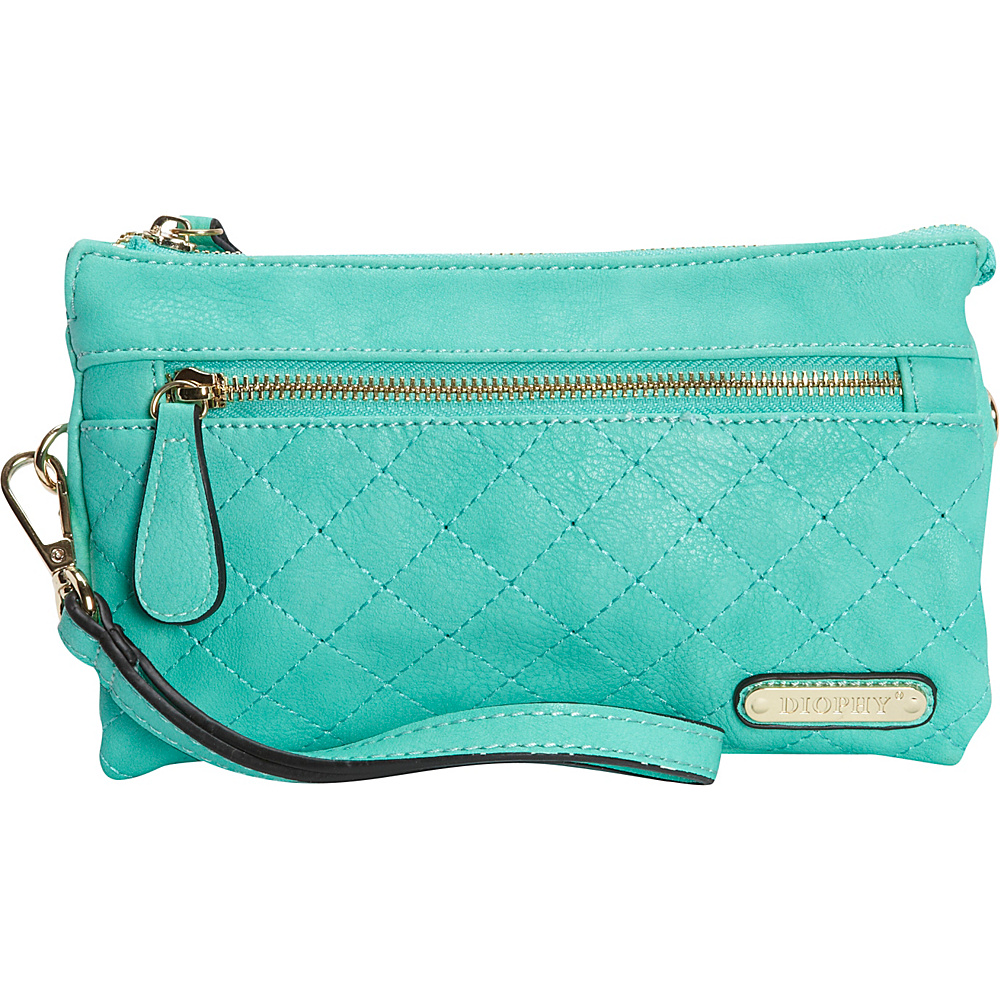 Diophy Quilted Crossbody Mint Diophy Manmade Handbags