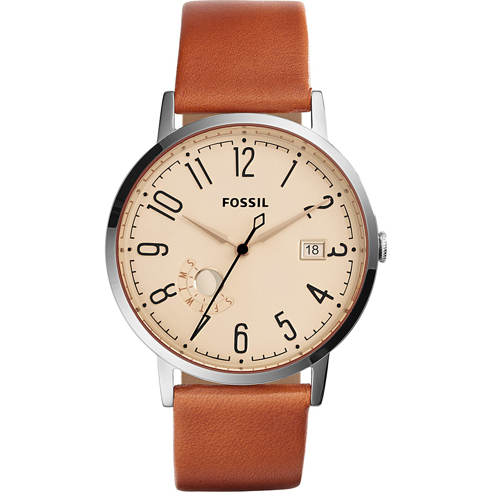 Fossil Vintage Muse Three-Hand Leather Watch Brown - Fossil Watches