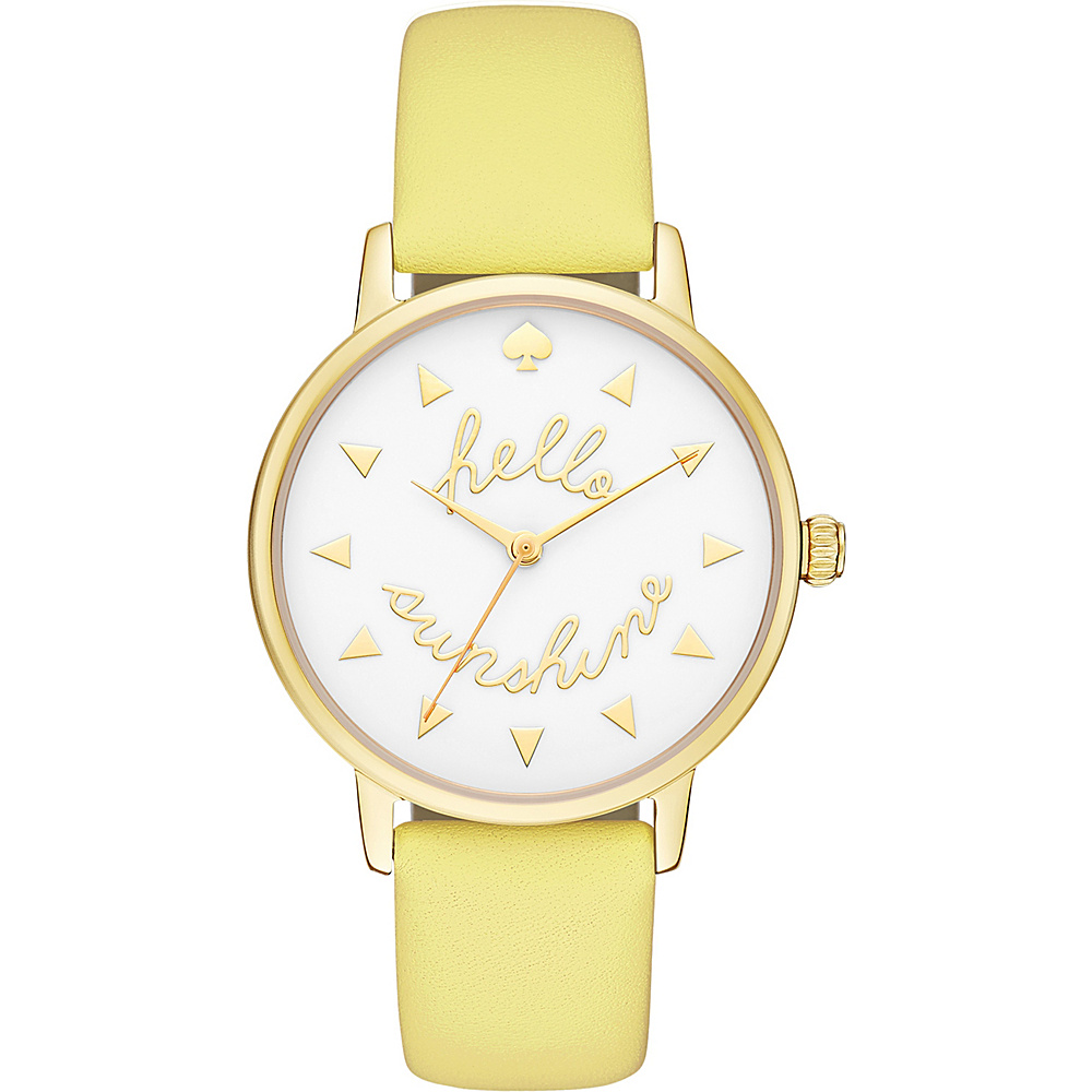 kate spade watches Leather Metro Watch Yellow kate spade watches Watches