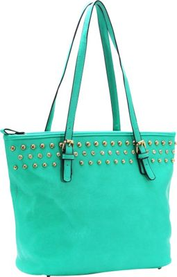 Royal Lizzy Couture Cote a Cote Classic Tote Turquoise - Royal Lizzy Couture Manmade Handbags