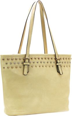 Royal Lizzy Couture Cote a Cote Classic Tote Beige - Royal Lizzy Couture Manmade Handbags