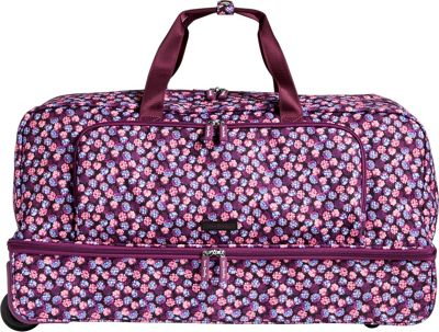 Vera Bradley Lighten Up Large Wheeled Duffel Berry Burst - Vera Bradley Rolling Duffels