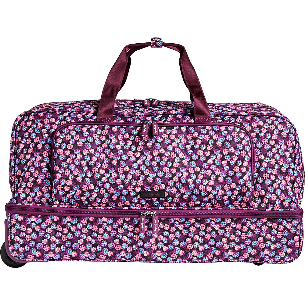 Vera Bradley Lighten Up Large Wheeled Duffel Havana Rose - Vera Bradley Rolling Duffels - Luggage, Rolling Duffels