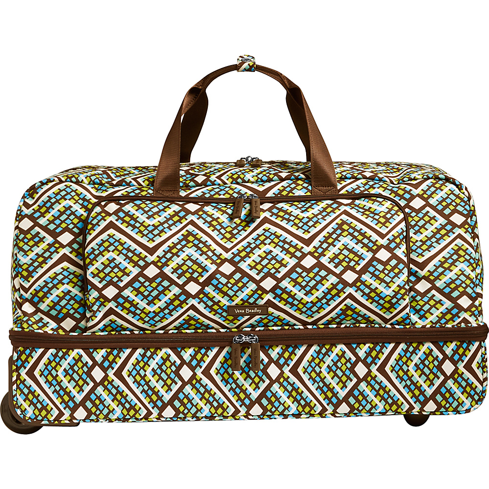 Vera Bradley Lighten Up Large Wheeled Duffel Rain Forest - Vera Bradley Rolling Duffels - Luggage, Rolling Duffels