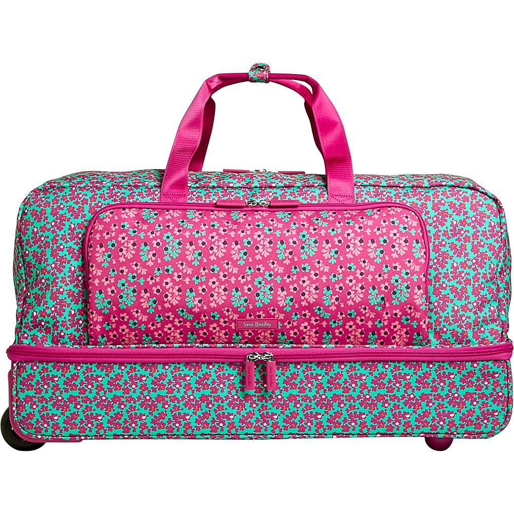 Vera Bradley Lighten Up Large Wheeled Duffel Ditsy Dot - Vera Bradley Rolling Duffels - Luggage, Rolling Duffels