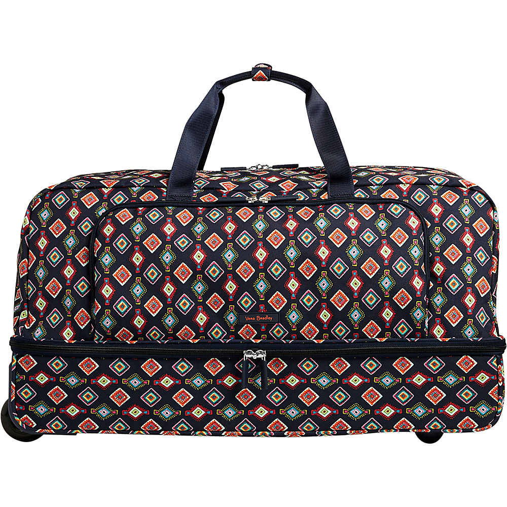 Vera Bradley Lighten Up Large Wheeled Duffel Mini Medallions - Vera Bradley Rolling Duffels - Luggage, Rolling Duffels