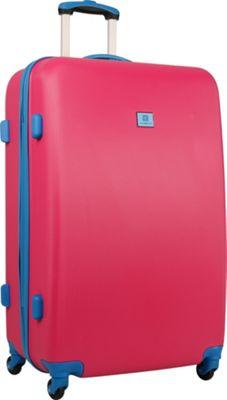 Anne Klein Luggage Palm Springs 28 inch Hardside Spinner Pink/Blue - Anne Klein Luggage Hardside Checked