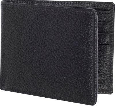 Access Denied Men's RFID Blocking Wallet Leather Bifold Slim Black Pebble - Access Denied Men's Wallets
