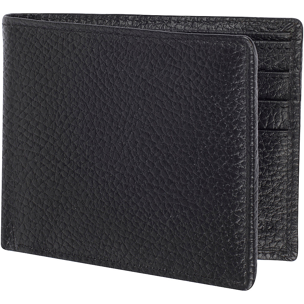 Access Denied Men s RFID Blocking Wallet Leather Bifold Slim Black Pebble Access Denied Men s Wallets