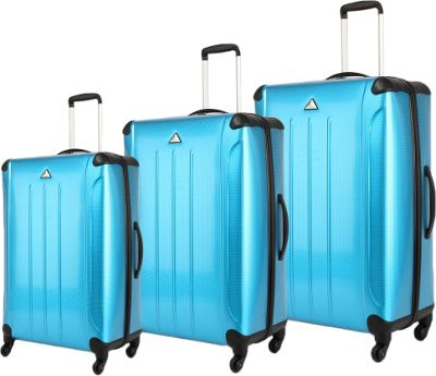 Triforce Apex 101 Collection Hardside 3-piece Spinner Luggage Set Turquioise/Blue - Triforce Luggage Sets