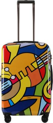 Triforce Francisco Ceron Music & Flowers 26 inch Hardside Spinner Luggage Music & Flowers - Triforce Softside Checked